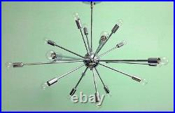 18 Arm Lights MID Century Modern Atomic Sputnik Brass Chandelier Light Fixture