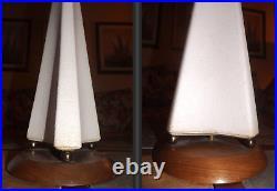 1950s Atomic Mid Century Rocket MOD Dutch Shape UFO Table Lamp MCM Vintage Retro