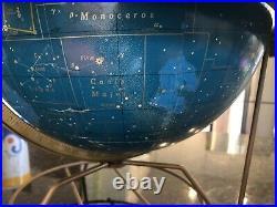 1958 Mid Century George Crams Zodiac Signs Atomic Celestial Globe Constellations