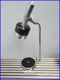 22 Vintage 60s Mid Century Modern Chrome Black Desk table Lamp Atomic Eame era