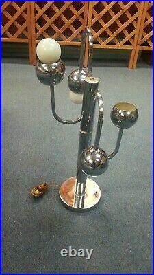 2 Sputnik Chrome MID Century Modern Atomic Table Lamp! Lighting Space 60s