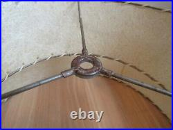 2 tier MID CENTURY MODERN Fiberglass lamp shade LARGE Atomic two 1950s RETRO