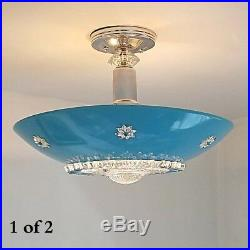 338b 50s 60s Vintage Ceiling Light Lamp Fixture atomic midcentury eames 1 of 3