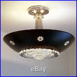 340b 50s 60s Vintage Ceiling Light Lamp Fixture atomic midcentury eames 1 of 3