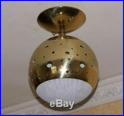 427 50s 60s Vintage Ceiling Light Lamp atomic midcentury eames retro hall 1 of 2