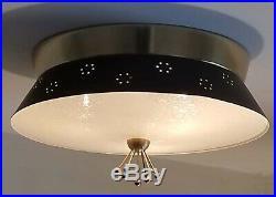 429b 60s 70s Vintage Ceiling Light Lamp Fixture atomic midcentury eames retro