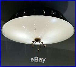 462b 50s 60's Vintage Ceiling Light Lamp Fixture atomic mid-century eames