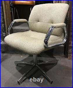 4 White Chrome Atomic Vintage MidCentury Danish Modern Chairs Dining Office BOHO