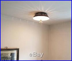 518b 50s 60's Vintage Ceiling Light Lamp Fixture atomic mid-century eames