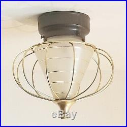 707b 50's Vintage Ceiling Light Lamp Fixture atomic mid-century eames sputik