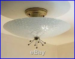 722b 50s 60s Vintage Ceiling Light Lamp Fixture atomic mid-century eames sputnik