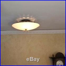 734b 60s 70s Vintage Ceiling Light Lamp Fixture atomic midcentury eames retro