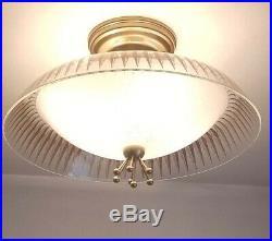 736b 50s 60s Vintage Ceiling Light Lamp Fixture atomic midcentury eames retro