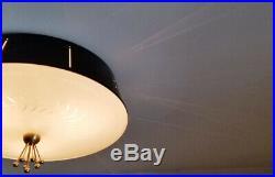 968b Vintage Ceiling Light lamp fixture atomic eames mid-century chandelier