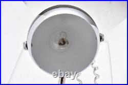 ATOMIC SPACE AGE MID CENTURY MODERNIST EYEBALL SPOT LIGHT TABLE LAMP 21 Black
