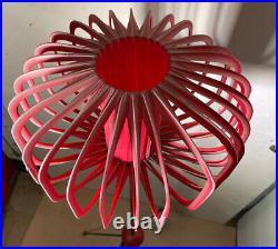 Atomic Mid Century Floor Lamp With Decorative Fabric Shade