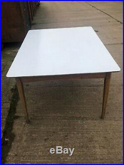 Atomic Retro Mid Century Vintage Dining Table Formica 6 seater Kitchen Large