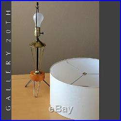 Atomic Rocket! MID Century Modern Tripod Table Lamp! 50's Paul Mccobb Space Age