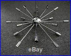 Chrome Atomic Sputnik Starburst Chandelier MID Century Modern