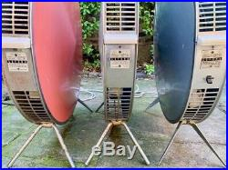Collection of 3 Working Sofono'Spacemaster' Heaters Mid-Century / Atomic