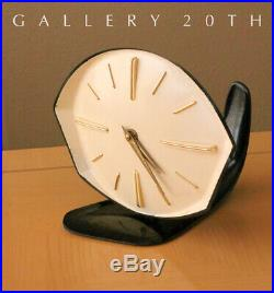 Cool! MID Century Modern Biomorphic Atomic Clock! Herman Miller Knoll Vtg 1950's