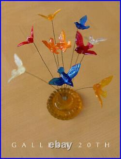 Cool! MID Century Modern Lucite Kinetic Bird Sculpture! 60's Art Vtg Atomic Wire