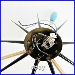 Deckenlampe Leuchte Sputnik 50er 60er Jahre Mid Century Vintage 3-armig Atomic