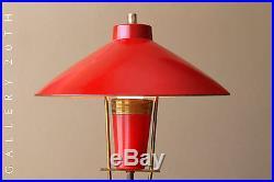Fab! MID Century Modern French Red Desk Lamp! Atomic Arteluce Vtg 1950s Lighting