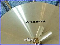 GEORGE NELSON Vintage Silver Ball Clock Mid Century Modern Atomic Starburst