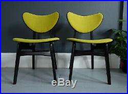 GPlan butterfly dining chairs pair mid century atomic vintage retro EGomme 1950s