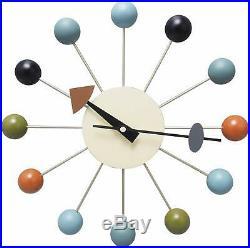 George Nelson Ball Clock Reproduction Mid Century Modern Vintage Atomic Decor