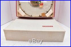 German KIENZLE Wall Clock Vintage Mid Century 1960s Glass Atomic Starburst W BOX