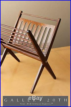 Iconic! Danish Modern Magazine Rack! 50's MID Century Atomic Kagan 60's Wood Vtg