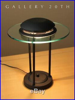 Kovacs! MID Century Black Sonneman Saucer Desk Lamp! 70's 80's Ufo Atomic Panton