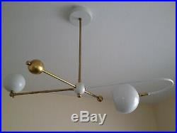 LARGE Stilnovo EAMES Arteluce CHANDELIER Light X-LAMP Mid Century DECO Atomic