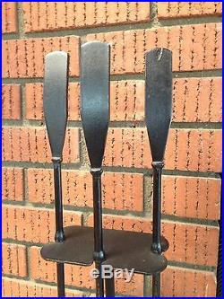MID CENTURY FIREPLACE TOOLS SET ATOMIC EAMES NELSON ERA 60s LUTHER CONOVER