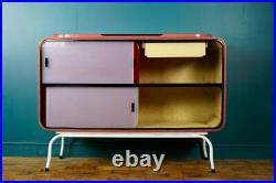 MID CENTURY RETRO SPACE AGE ATOMIC SIDEBOARD BY RAYMOND LOEWY C. 1950s