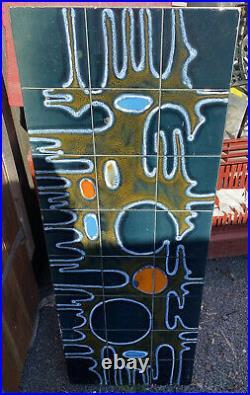MID Century Fat Lava Tiled Chrome Coffee Table Vintage 1960's 1970s Retro Atom