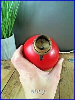 MID Century Modern 1950s Italian Designer Red Atomic Lamp Base Space Age Sputnik