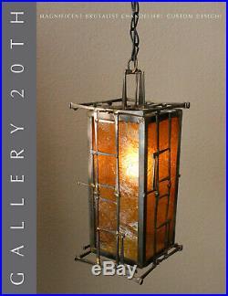 MID Century Modern Brutalist Hanging Lamp! Chandelier Swag Jere Atomic 50's 60's