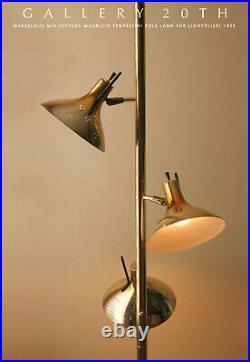 MID Century Modern Lightolier Tension Pole Lamp! 1950s Atomic Sputnik Space Age