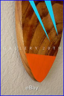 MID Century Modern Walnut Fish Wall Art! Atomic After Hans Wegner Wood 50's 60's