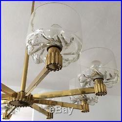 Mid Century 8-ARMED CHANDELIER Atomic SPUTNIK Pendant Lamp ARTELUCE Stilnovo ERA