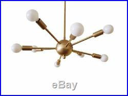 Mid Century Atomic 8 Arm Starburst Sputnik Ceiling Light