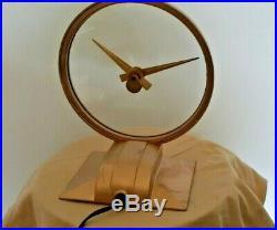 Mid Century Atomic Age Jefferson Golden Hour Mystery Clock
