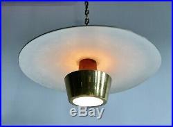 Mid Century Atomic Modern Sputnik Saucer Chandelier Lamp Light Ceiling Fixture