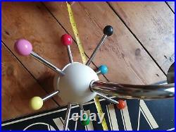 Mid Century Cap Rack Sputnik Atomic Coat Hook Black Osvaldo Borsani Space Age