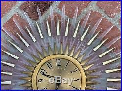 Mid Century GE 24 wall CLOCK Starburst Atomic electric Modern-Eames Era Lucite