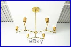 Mid Century Industrial Chandelier Atomic Lamp Sputnik Ceiling Light Fixture