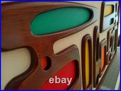 Mid Century Modern Art, Wood wall art, Wood sculpture, Witco inspired Atomic Age
